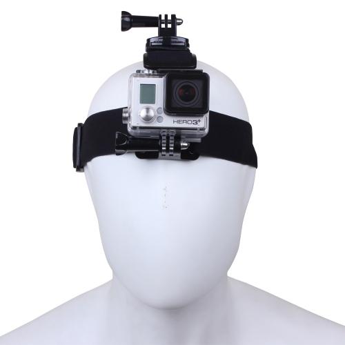 Andoer Elastic Adjustable Head Strap 360°  Rotation Mount Belt with Long Plastic Knob Thumb Screw for GoPro HD Hero 1/2/3/3+/4 Camera
