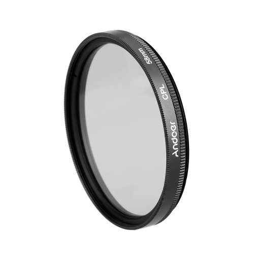 Andoer 58mm Digital Slim CPL Circular Polarizer Polarizing Glass Filter for Canon Nikon Sony DSLR Camera Lens