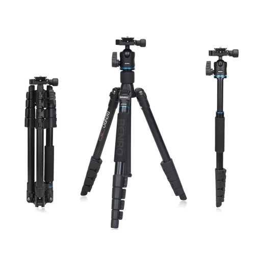 Benro IT15 Portable Aluminum Alloy Travel Tripod Kit with Ball Head Monopod for Canon Nikon Pentax Camera & DV