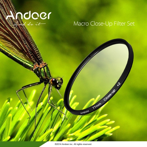 Andoer 58mm Macro Close-Up Filter Set +1 +2 +4 +10 with Pouch for Nikon Canon Rebel T5i T4i EOS 1100D 650D 600D DSLRs