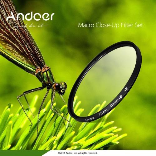 Andoer 58mm Macro Close-Up filtre défini un ensemble de +1 +2 +4 +10 avec étui poche pour Nikon Canon Rebel T5i T4i EOS 1100D 650D 600D reflex numériques