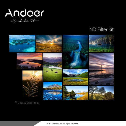 Andoer 58mm Fader ND Filtre Kit Neutre Densité Photographie Filtre Ensemble (ND2 ND4 ND8) pour Nikon Canon Rebel T5i T4i EOS 1100D 650D 600D DSLRs