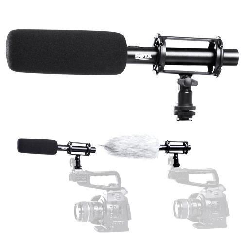 BOYA por PVM1000 condensador Shotgun micrófono XLR de 3 pines salida de cámara réflex digital