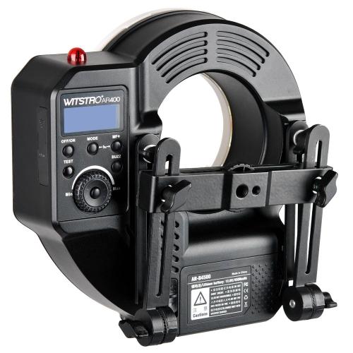 Godox Witstro AR400 400W batterie Li-ion Anneau Flash Speedlite + LED vidéo pour Canon Nikon DSLR
