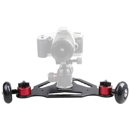 Andoer 3 Wheels Desktop Camera Video Rail Track Slider Dolly Car for Canon 5D II 7D 60D DSLR Camera Camcorder DV