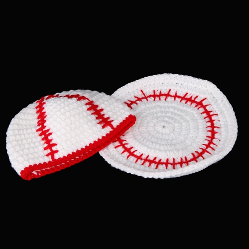 Baby Infant Baseball Hat Cap Crochet Knitting Costume Soft Adorable Clothes Photo Photography Props for Newborns