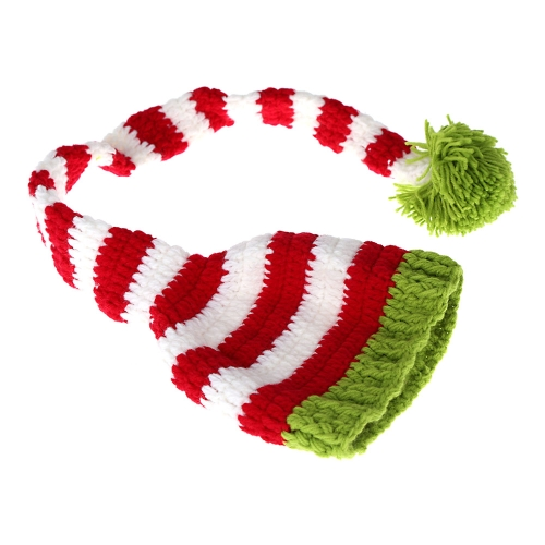 Baby Infant Elf Bernat Hat Cap Long Tail Crochet Knitting Costume Soft Adorable Clothes Photo Photography Props for Newborns