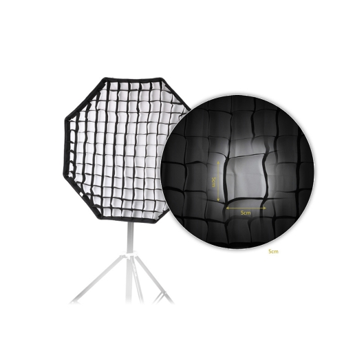 80cm / 31.5in Octagon Umbrella Softbox Brolly Reflector with Honeycomb Grid Carbon Fiber Bracket for Speedlite Flash Light