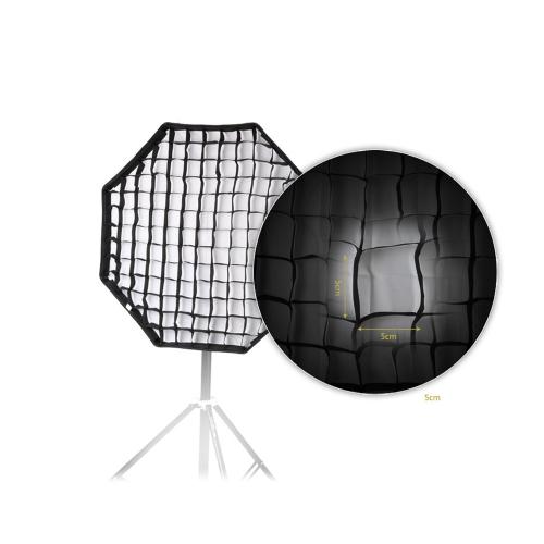 80cm / 31.5in achteckige Schirm-Softbox Brolly Reflektor mit Wabengitter Carbon Halter für Speedlite-Blitzlicht