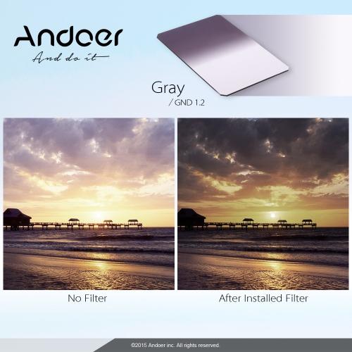100x150mm Miękka Plac Andoer Z Series Filter Absolwent Neutral Density GND16 Grad ND 1.2 dla Lee i Cokin Z-PRO Posiadaczy