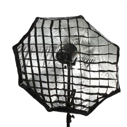 95cm / 37.4in Octagon Umbrella Softbox Brolly Reflector Tent Studio Photography with Honeycomb Grid Carbon Fiber Bracket for   Speedlite Flash Light