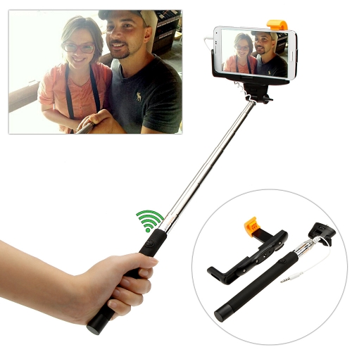 Wired Cable Remote Shooting Control Shutter Selfie Self-timer Extendable Monopod Handheld Grip Pole Stick for iPhone Samsung Sony IOS 5.0 Android 4.2 System or above