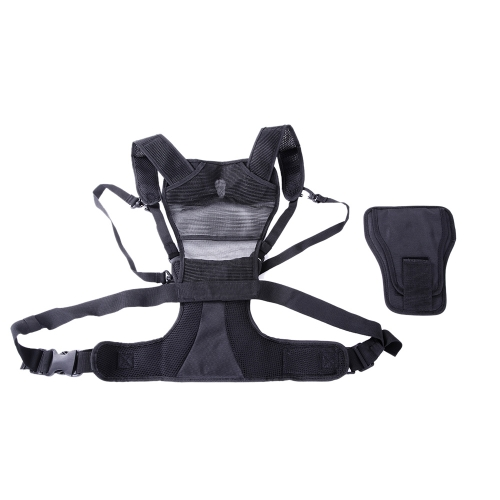 Micnova MQ-MSP Multi Camera Carrier Harness Holster System for Digital SLR Camera Photographer Vest with Side Holster