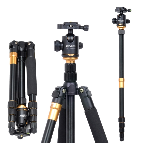 ZOMEI Z-669 Pro Tripod Monopod Magnesium Aluminum Alloy Portable Detachable Changeable Traveling with Ball Head for SLR Camera DSLR Camcorder
