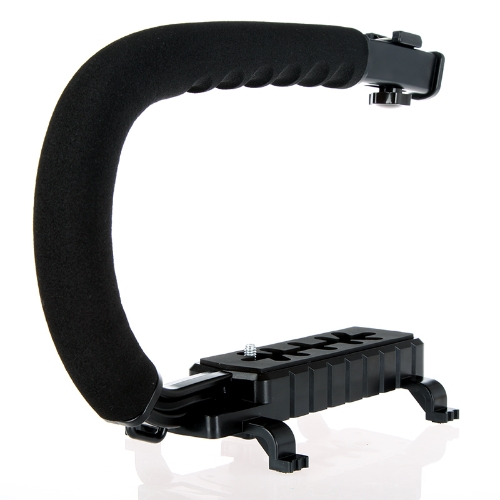C Shape Bracket Video Handle Handheld Stabilizer Grip for DSLR SLR Camera Mini DV Camcorder