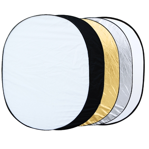 5 in 1 Photography Studio Multi Photo Collapsible Light Reflector Oval 150 x 200cm