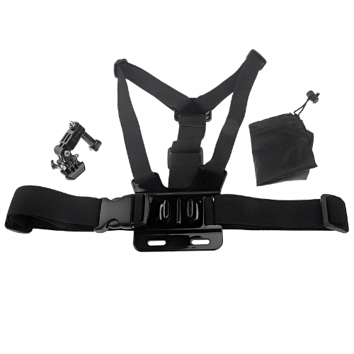 Elastic Body Chest Harness Strap Mount Belt with Three-way Adjustment Base for Gopro Hero 1 2 3 HERO3+