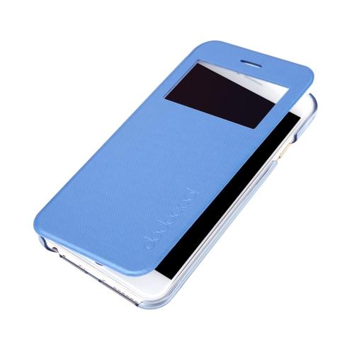 dodocool Flip PU couro Ultra Slim caso cobrir única janela de exibição para 4,7