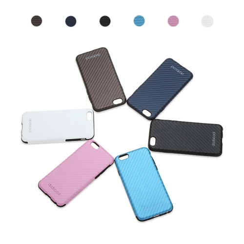 dodocool Soft Textured PU Leather TPU Case Back Cover Skin Protective Shell for 4.7