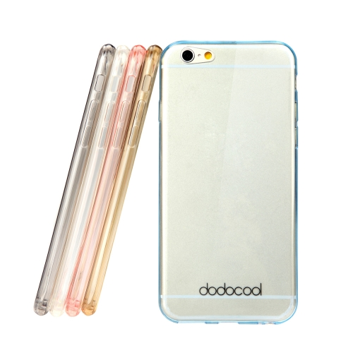 dodocool ultra thin slim clear transparent soft tpu back case cover skin protective shell for 4.7'' apple iphone 6 blue