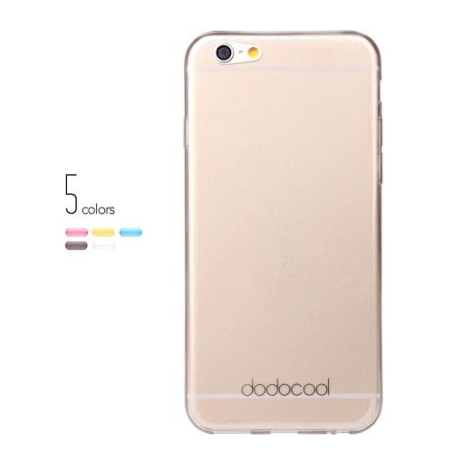 dodocool Ultra fino Slim clara transparente macio TPU volta caso cobrir pele casca protetora para 4,7 ' Apple iPhone 6 cinza