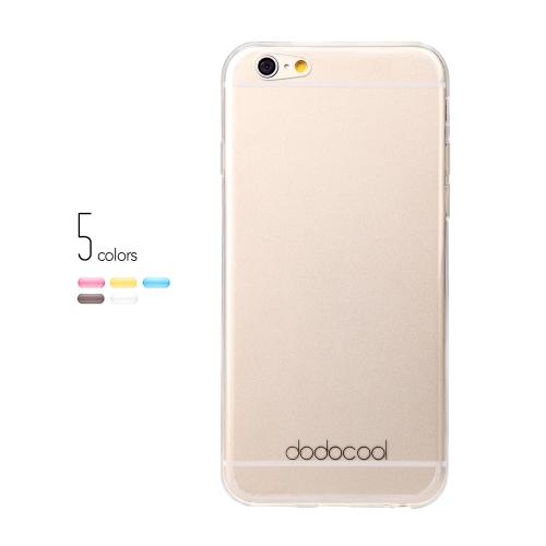 dodocool Ultra fino Slim clara transparente macio TPU volta caso cobrir pele casca protetora para 4,7 ' Apple iPhone 6 branco