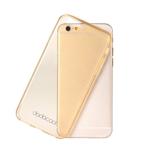 dodocool ultra thin slim clear transparent soft tpu back case cover skin protective shell for 4.7'' apple iphone 6 yellow