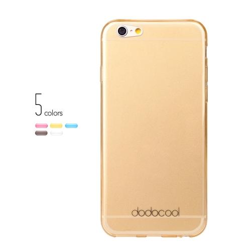 dodocool Ultra fino Slim clara transparente macio TPU volta caso cobrir pele casca protetora para 4,7 ' Apple iPhone 6 amarelo