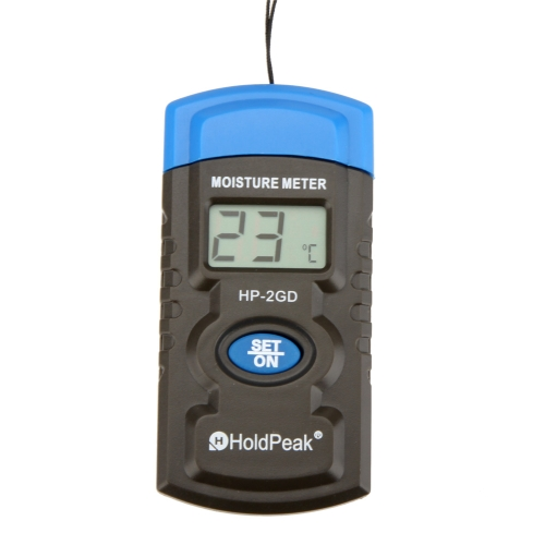 HoldPeak HP-2GD 3'' 3-in-1 Mini LCDTemperatur- und Feuchtigkeitsmessgerät Beton/Hölzer/Bauwerk/Materialien Feuchtigkeitsmesser