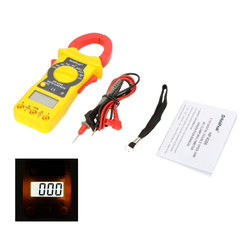 HoldPeak HP-6206 Digital Clamp Meters Amp Volt Ohmmeter with Auto LCD Backlight