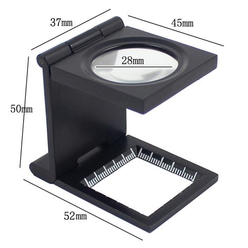 10倍  28mm  ミニ亜鉛合金折りたたみ拡大鏡  繊維光学ガラス   折りたたみ拡大鏡ツール  スケール付
