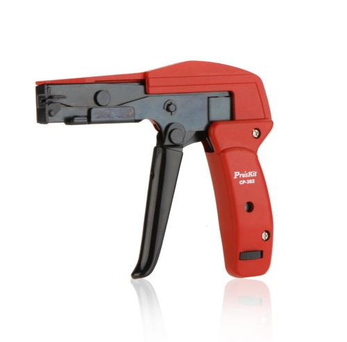 Pro'sKit CP-382 Cable Tie Gun Plier Cutting Tighting Steel Beam Line Tight Line Gun