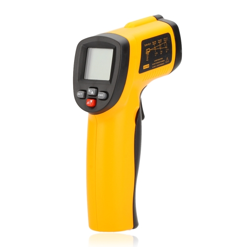 Benetech GM550E Non-contact 12:1 Digital Infrared IR Thermometer Laser Temperature Gun Tester Range -50~550℃ (-58~1022℉)