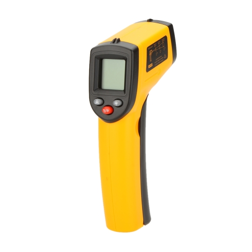 GM320 Non-Contact 12:1 Digital Infrared IR Thermometer Laser Temperature Gun Tester Range -50~330℃ (-58~626℉) with LCD Backlight