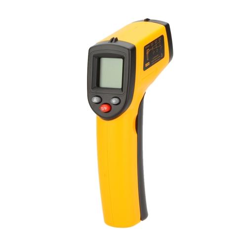 GM320 12:1 Бесконтактный цифровой инфракрасный термометр лазерный пистолет тестер диапазон температур -50 ~ 330℃ (-58 ~ 626℉) с ЖК-подсветкой