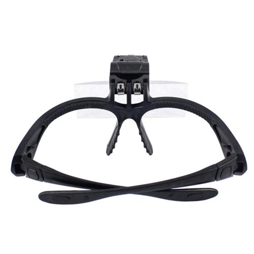 5 lente 1.0 X-3.5 X soporte vincha lupa lupa gafas con 2 luces LED ojo aumento gafas lupa herramienta