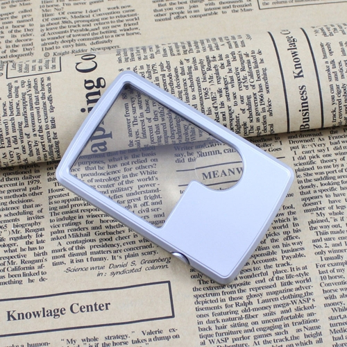 Pocket Ultra-thin Card Reading Magnifier 3X/6X Loupe with LED Light Magnifying Tool