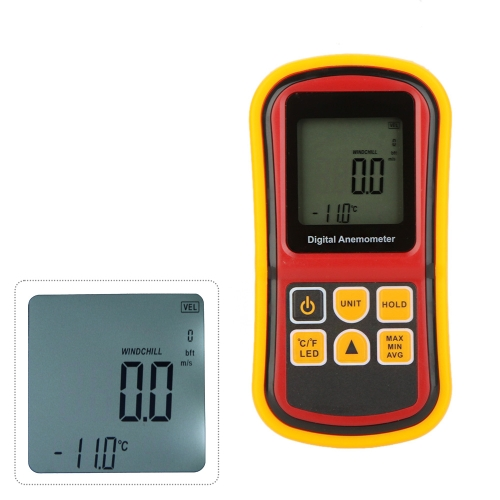 GM8901 Digital Anemometer Wind Speed/Air Velocity/Air Temperature Meter Tester Measuring 0~45m/s with LCD Backlight