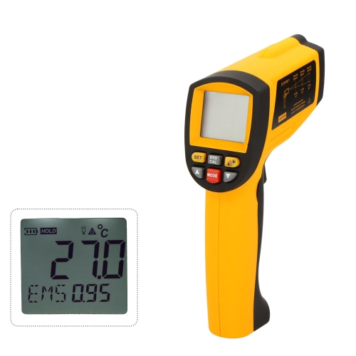 GM1651 LCD Non-Contact 50:1 Digital Infrared IR Thermometer Laser Temperature Gun Tester Range -30~1650℃ (-22~3002℉) with USB Interface
