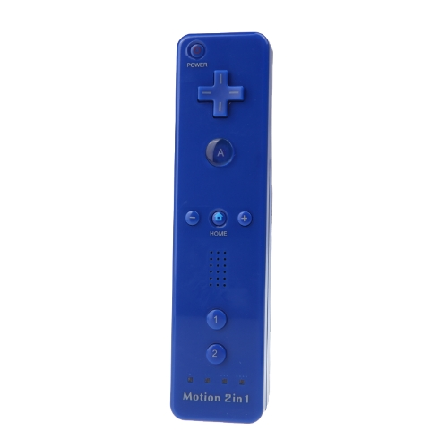 Wired Nunchuck and Remote Controller with Motion Plus for Nintendo Wii With Retail Package Dark Blue