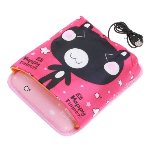 Cute Happy Tininess Bear USB Laptop PC Computer Plush Hand Warmer Mouse Pad Mat