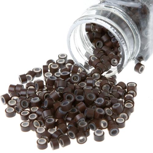 Micro anéis de Silicone marrom