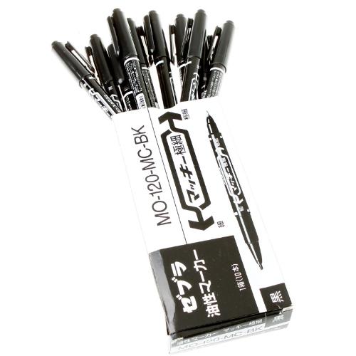 10pcs/Set tatuagem marcador caneta oleosa dupla cabeça caneta marcadora preto marcador de ponta fina/grossa