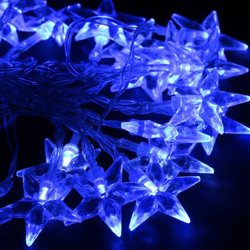 40LED 4M Blau Stern Weihnachten/Hochzeit/Party Dekoration Lichterkette