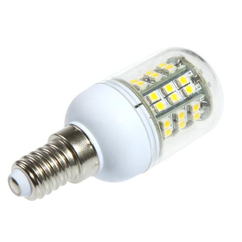 LED кукуруза лампочку 48 3528 SMD E14 3W теплый белый 220V