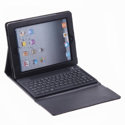 Wireless BT Keyboard + Real Leather Case for iPad 2 iPad 3