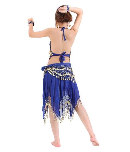 Enlace de cintura Tops y pantalones para danza del vientre