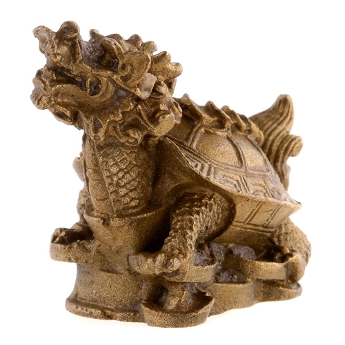 Chinese Copper Brass Carving Dragon Turtle TOM877