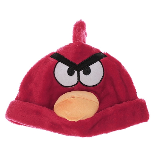 Red Stylish Lovely Soft Angry Birds Cartoon Animal Plush Warm Hat Cap Beanie