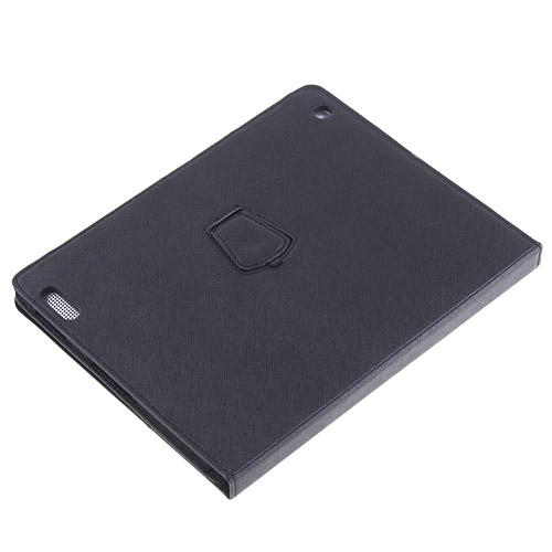 Black Leather Case Cover Stand for Apple iPad 2